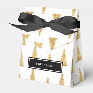 Gold Christmas Favour Box