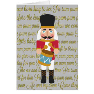 Gold Christmas Little Drummer Boy Card