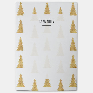 Gold Christmas Post-it Notes