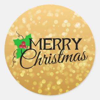 Gold Christmas Sticker
