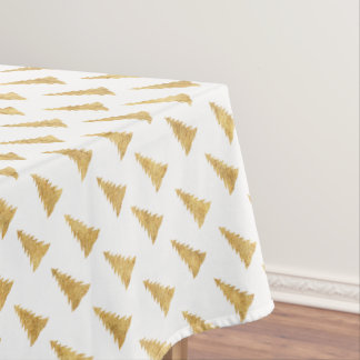 Gold Christmas Tablecloth