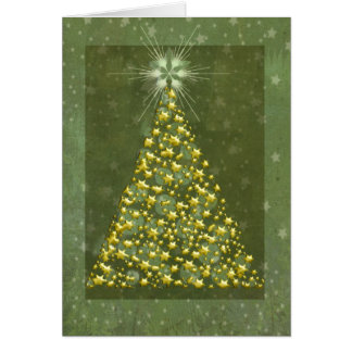 Gold Christmas Tree Cards