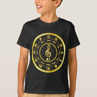 """Gold"" Circle of Fifths T-Shirt"