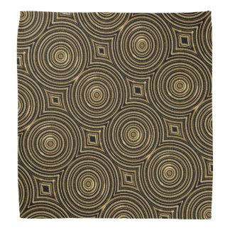 Gold circles bandana
