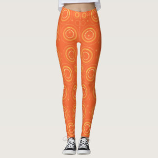 Gold circles on orange leggings