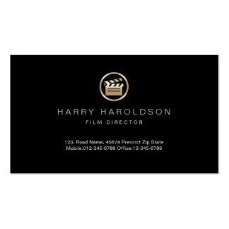 Gold Clapperboard Icon Film Director Visual Arts Pack Of Standard Business Cards