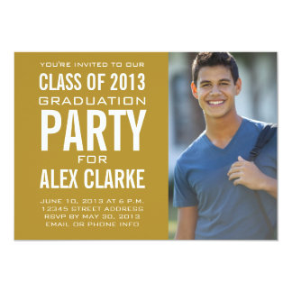 GOLD CLASS OF 2013 PARTY INVITATION PHOTO
