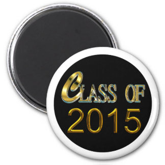 Gold Class Of 2015 With White Or Any Color Magnet