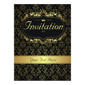 Gold Classy Invitation for any occasion