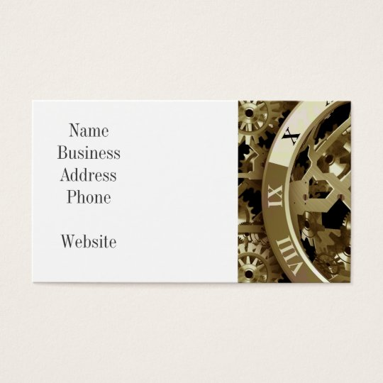 Gold Clocks and Gears Steampunk Mechanical Gifts Business