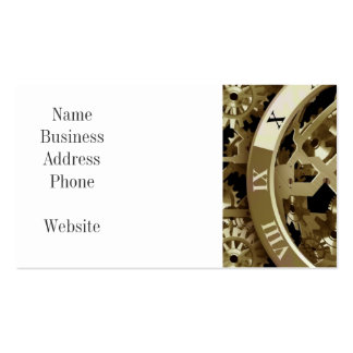 Gold Clocks and Gears Steampunk Mechanical Gifts Pack Of Standard Business Cards