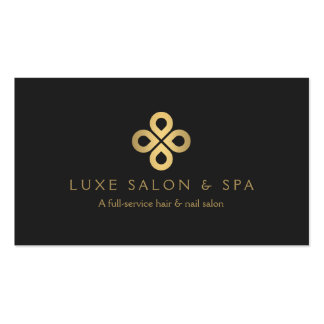 Gold Clover Logo for Salons and Makeup Artists Pack Of Standard Business Cards