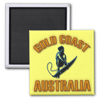 GOLD COAST AUSTRALIA SQUARE MAGNET