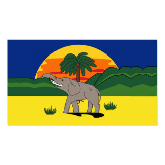 Gold Coast Elephant Palm Tree Gift Tag Bookmark Business Cards