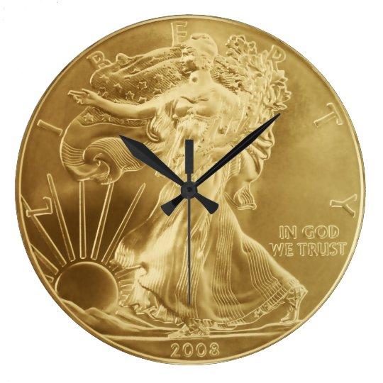 Gold Coin Wall Clock
