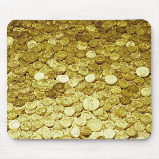 gold coins mouse pad