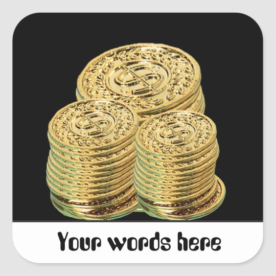 Gold coins or tokens gambling customisable sticker