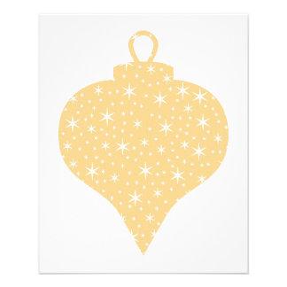 Gold Color Christmas Bauble Design. 11.5 Cm X 14 Cm Flyer