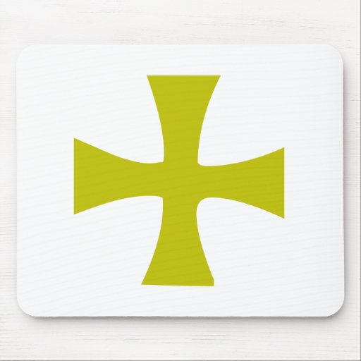 Gold Colored Byzantine Cross Mouse Pads
