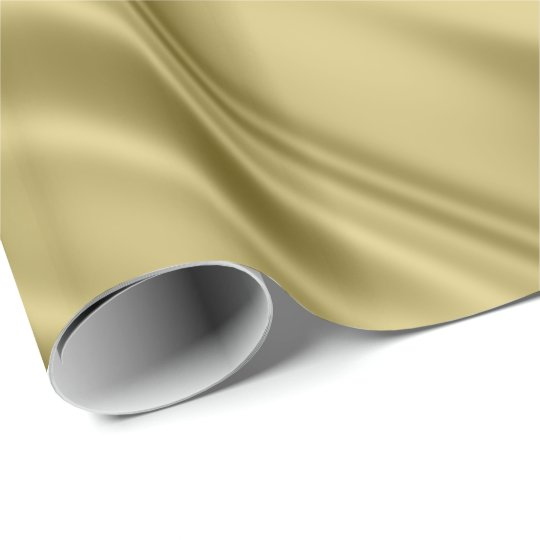 Gold Colour Faux Satin Fabric Look Wrapping Paper