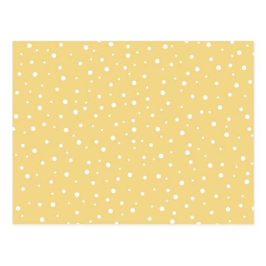 Gold Colour with White Dots Pattern. Postcard