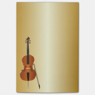 Gold Coloured Cello Post-it Notes