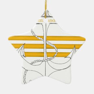 gold commander, tony fernandes ceramic star decoration