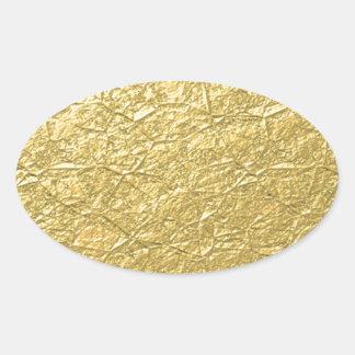 Gold Concrete Oval Sticker
