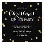 Gold Confetti Christmas Party (Custom Colour) 13 Cm X 13 Cm Square Invitation Card