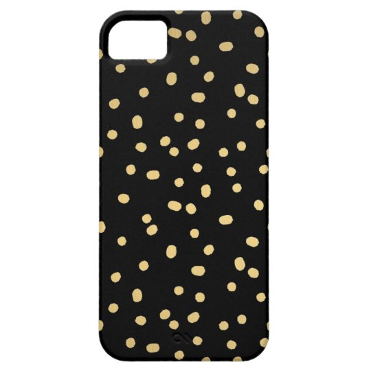 Gold Confetti Dots Case For The iPhone 5