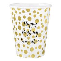 Gold Confetti Dots Paper Cup