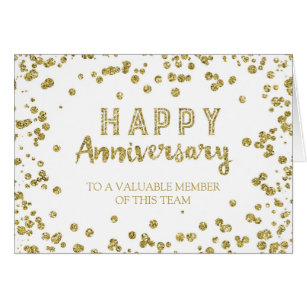 work anniversary card templates by employee anniversary cards invitations zazzle co uk - Work Anniversary Cards