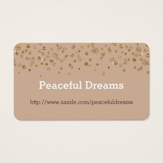 Gold Confetti Glam Glitter Business Card