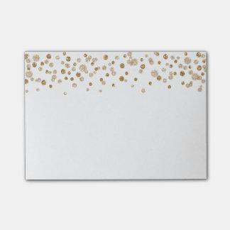 Gold Confetti Glam Glitter Post-it Notes
