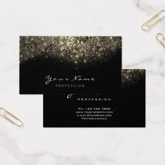 Gold Confetti Glitter Makeup Artist Lashes Business Card