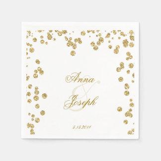 Gold confetti & glitter Napkins V Paper Napkin