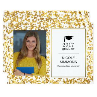 Gold Confetti Graduate Photo Card