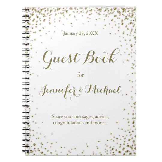 Gold Confetti Guest Book
