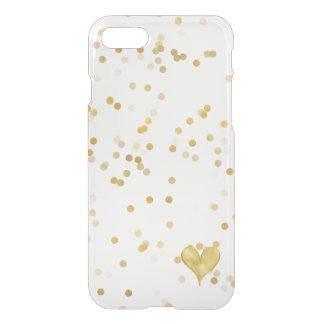 Gold Confetti Heart iPhone 8/7 Case