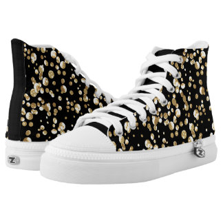 Gold confetti . high tops