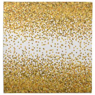 Gold Confetti Napkin
