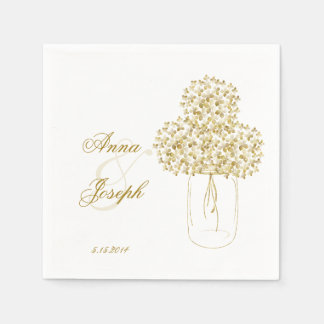 Gold confetti Napkins mason jar Disposable Napkins