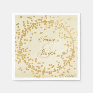 Gold confetti Napkins vintage Disposable Napkin