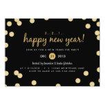 Gold Confetti New Years Eve Party Invite 13 Cm X 18 Cm Invitation Card