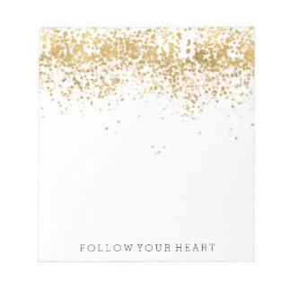 Gold Confetti Notepad
