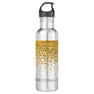 Gold Confetti Personalized 710 Ml Water Bottle