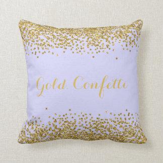 Gold Confetti Throw Pillow 16x16