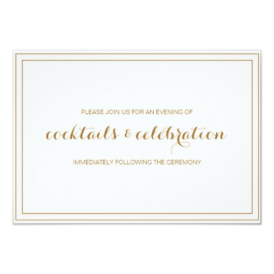 Gold Confetti Wedding Invitation Reception Card