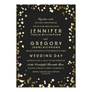 Gold Confetti Wedding Invitations