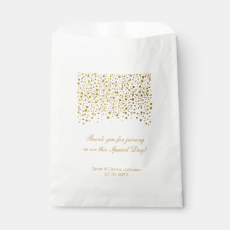 Gold Confetti Wedding  | Personalize Favour Bags